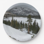 Snowy Ellery Lake California Winter Photography Paper Plate