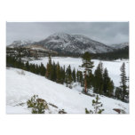 Snowy Ellery Lake California Winter Photography Photo Print