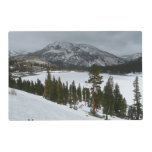 Snowy Ellery Lake California Winter Photography Placemat
