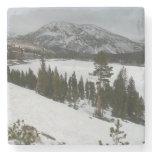 Snowy Ellery Lake California Winter Photography Stone Coaster