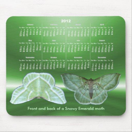 Snowy Emerald Calendar ~ mousepad