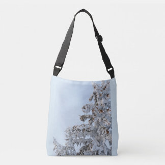 snowy evergreen bag