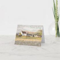 Snowy Farm Christmas Card