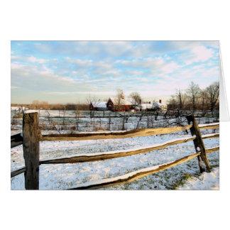 Snowy Farmland Card