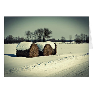 Snowy field greeting cards