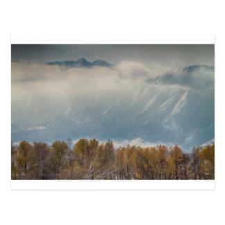 Snowy Flatiron View Boulder Colorado Postcard