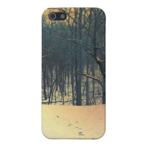 snowy forest case for iPhone 5