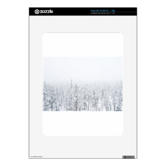 Snowy forest decals for the iPad