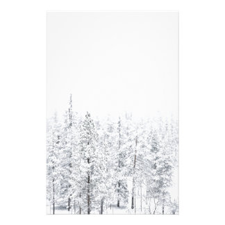 Snowy forest stationery