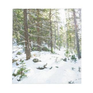 Snowy Forest Wilderness Playground Notepad