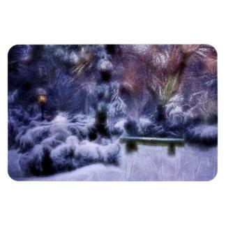 Snowy Forest Winter Wonderland Flexible Magnet