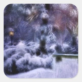 Snowy Forest Winter Wonderland Stickers