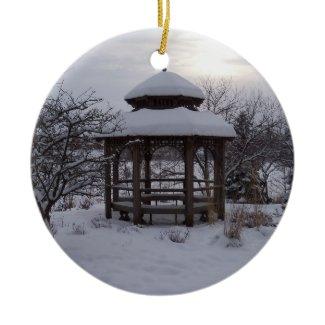 Snowy Gazebos ornament