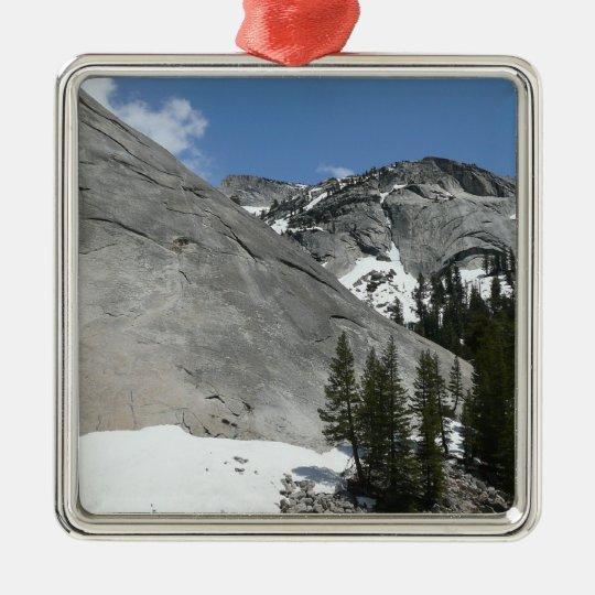 Snowy Granite Domes I at Yosemite National Park Metal Ornament