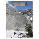 Snowy Granite Domes I Yosemite National Park Clipboard