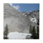 Snowy Granite Domes I Yosemite National Park Small Square Tile