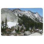 Snowy Granite Domes Panorama at Yosemite Floor Mat