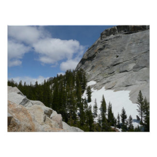 Snowy Granite Domes Print