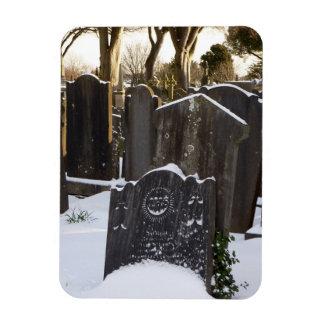 Snowy Graves Rectangular Photo Magnet