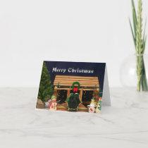 Snowy Guinea Pig Christmas Card