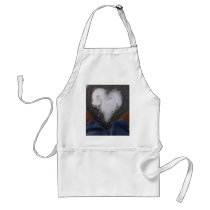 Snowy Heart Adult Apron