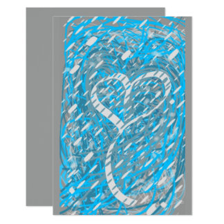 Snowy Heart Blank Invitation