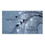 Snowy Hearts Business Card Template