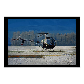 Snowy Heli Poster