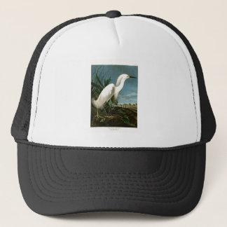 Snowy Heron White Egret Audubon Birds of America Trucker Hat
