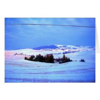 Snowy hills card