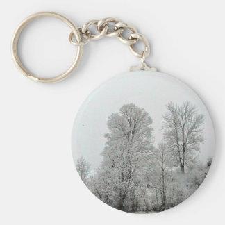 Snowy Hillside Key Chains