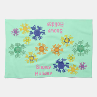 Snowy Holiday Towels