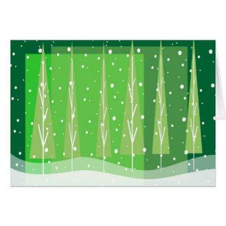 Snowy Holidays Card