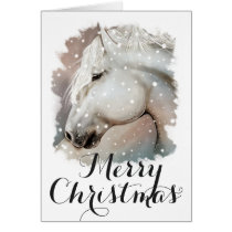Snowy Horse Christmas Card