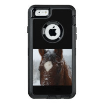 Snowy Horse OtterBox Defender iPhone Case