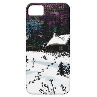 Snowy House Christmas Time Scene iPhone SE/5/5s Case