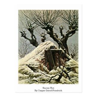 Snowy Hut By Caspar David Friedrich Postcard