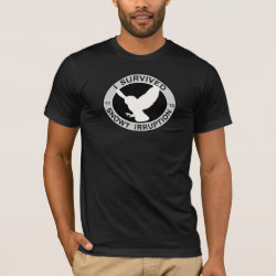 Men's Basic American Apparel T-Shirt with Snowy Owl Irruption 2011-2012 design