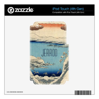 Snowy Japanese Illustration iPod Touch 4G Skin