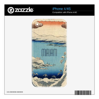 Snowy Japanese Illustration Decals For The iPhone 4S