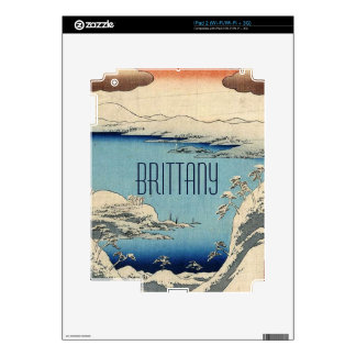 Snowy Japanese Illustration Decal For The iPad 2