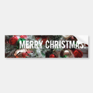 Snowy Jingle Bells and Merry Christmas! Bumper Sticker