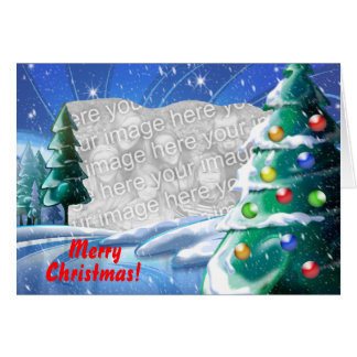 Snowy Lake Christmas Template Photo Card