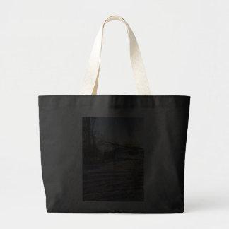 Snowy Lake View Canvas Bags