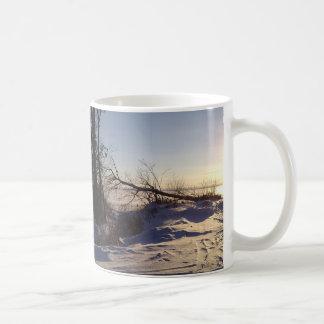 Snowy Lake View Coffee Mug
