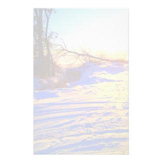 Snowy Lake View Custom Stationery