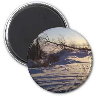 Snowy Lake View Magnets