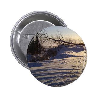 Snowy Lake View Pin