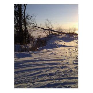 Snowy Lake View Post Card
