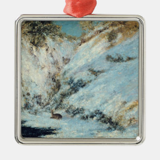 Snowy Landscape, 1866 Metal Ornament